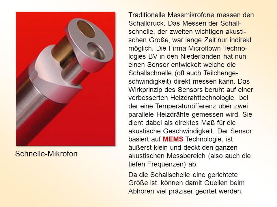 Traditionelle Messmikrofone messen den Schalldruck