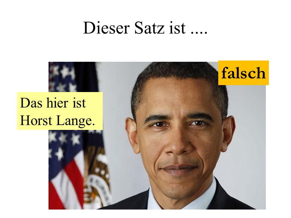 Dieser Satz ist .... falsch Das hier ist Horst Lange.