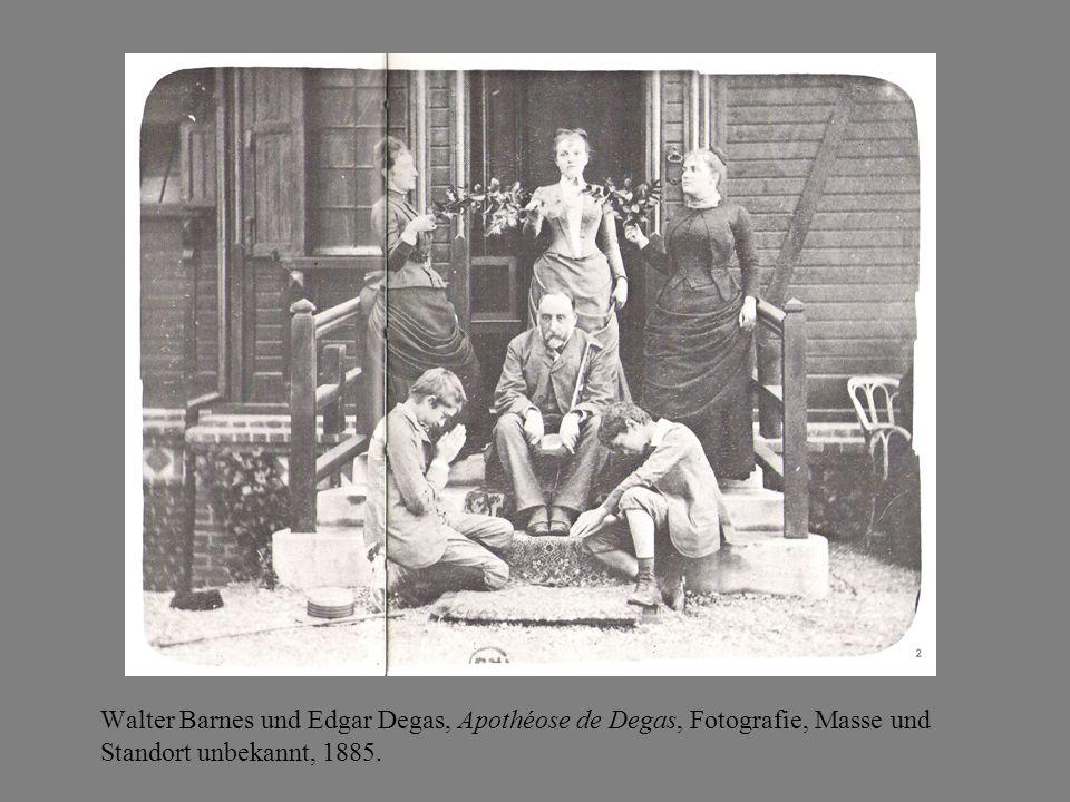 Walter Barnes und Edgar Degas, Apothéose de Degas, Fotografie, Masse und Standort unbekannt, 1885.