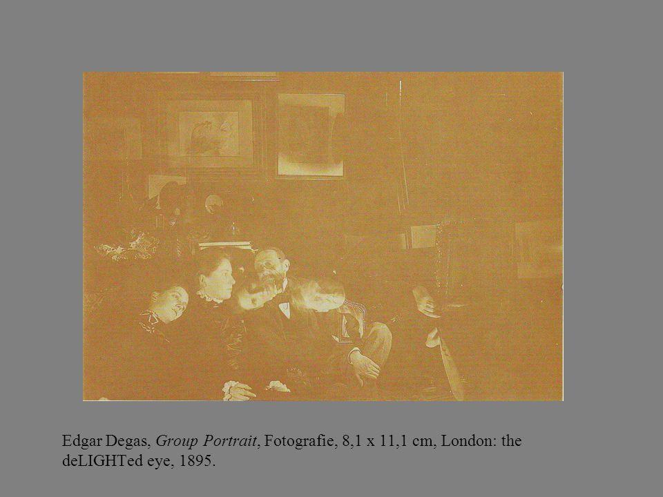 Edgar Degas, Group Portrait, Fotografie, 8,1 x 11,1 cm, London: the deLIGHTed eye, 1895.