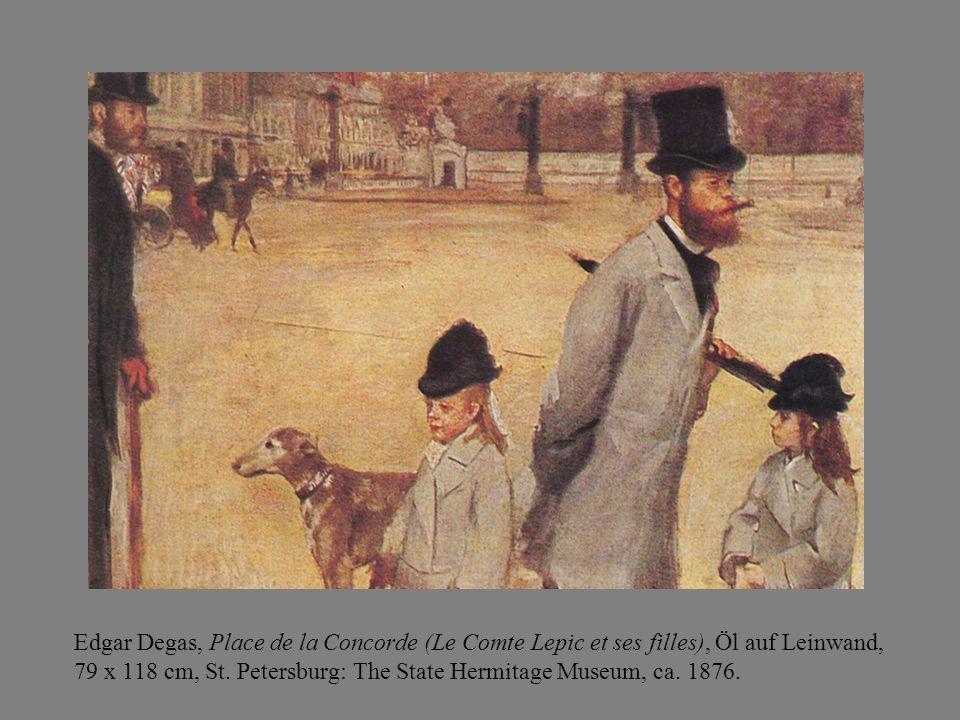 Edgar Degas, Place de la Concorde (Le Comte Lepic et ses filles), Öl auf Leinwand, 79 x 118 cm, St.