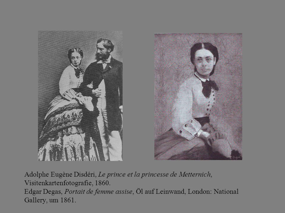 Adolphe Eugène Disdéri, Le prince et la princesse de Metternich, Visitenkartenfotografie, 1860.