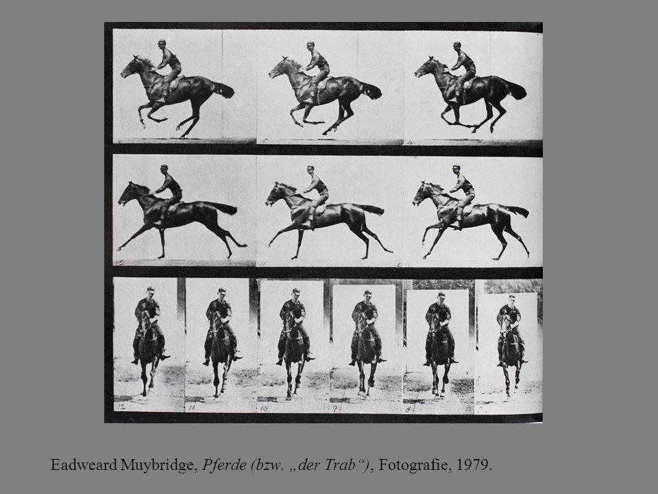"""Eadweard Muybridge, Pferde (bzw. """"der Trab ), Fotografie, 1979."""