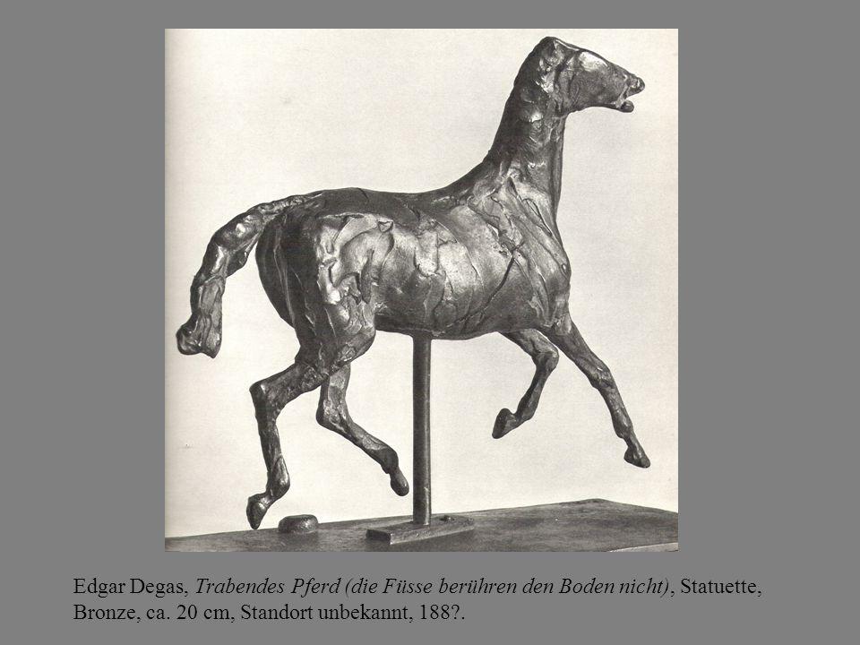 Edgar Degas, Trabendes Pferd (die Füsse berühren den Boden nicht), Statuette, Bronze, ca.