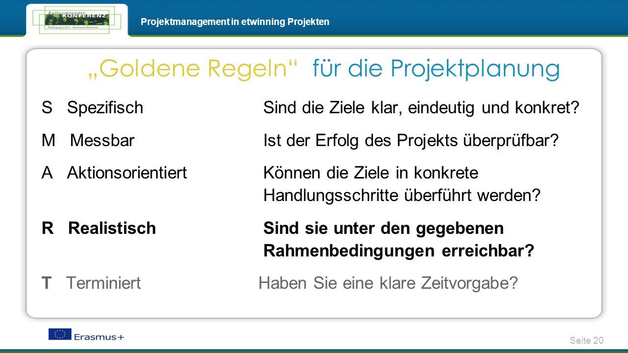 """""""Goldene Regeln für die Projektplanung"""