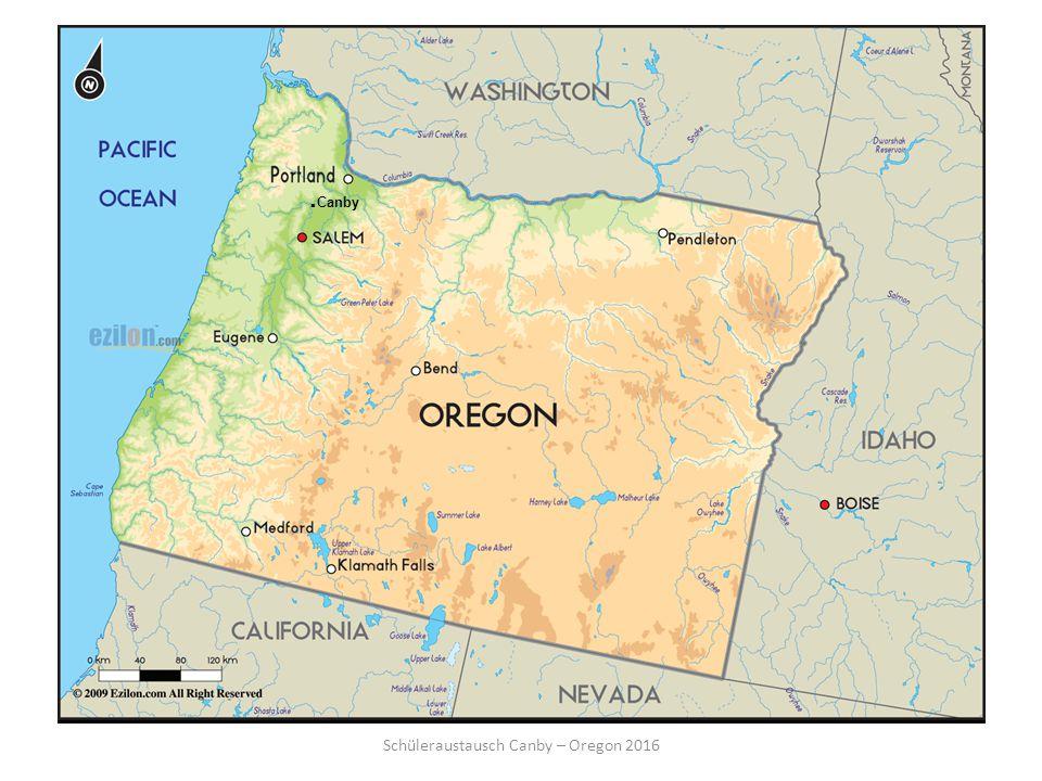 Schüleraustausch Canby – Oregon 2016
