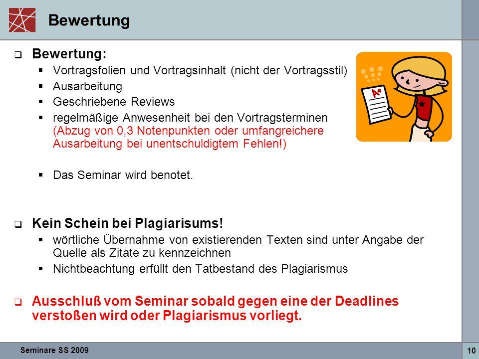 Bewertung Bewertung: Kein Schein bei Plagiarisums!