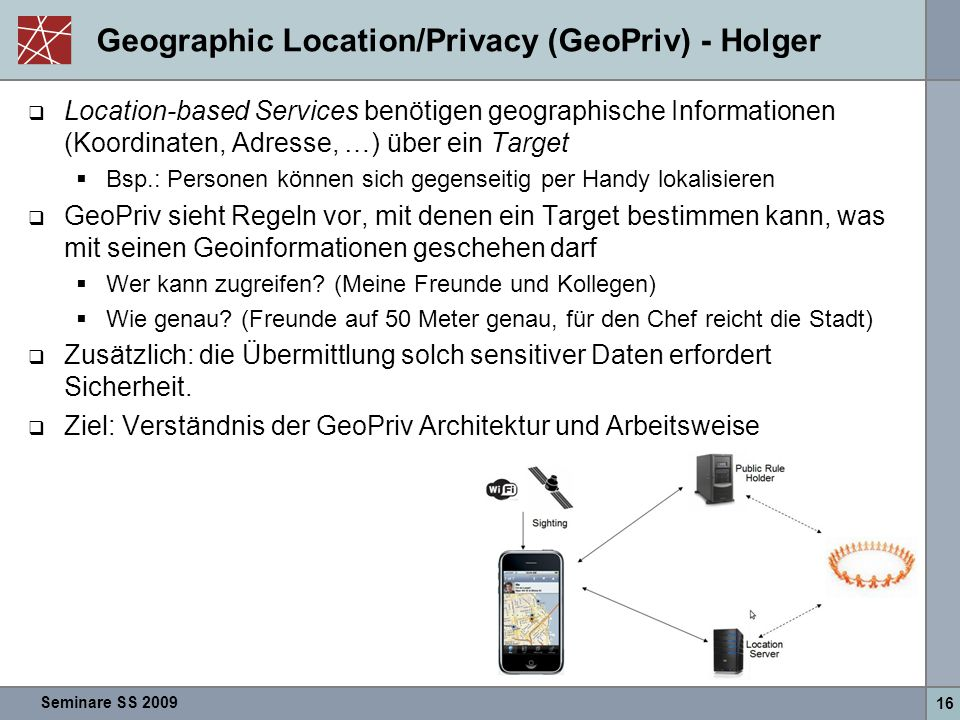 Geographic Location/Privacy (GeoPriv) - Holger