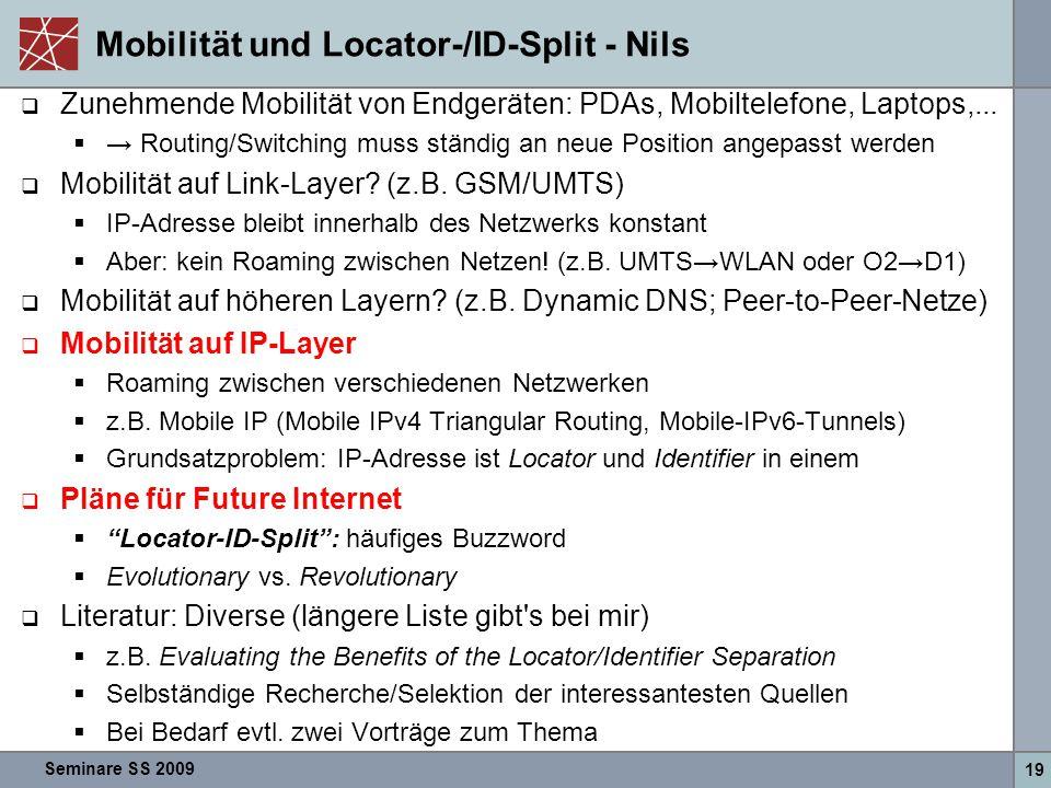 Mobilität und Locator-/ID-Split - Nils