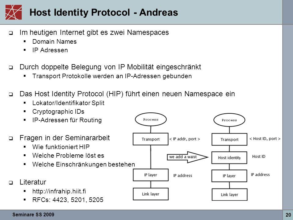 Host Identity Protocol - Andreas