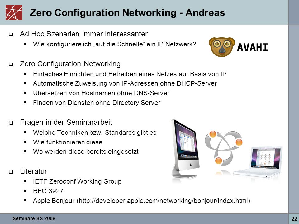 Zero Configuration Networking - Andreas