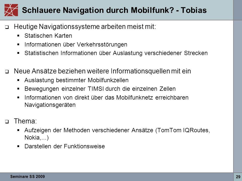 Schlauere Navigation durch Mobilfunk - Tobias