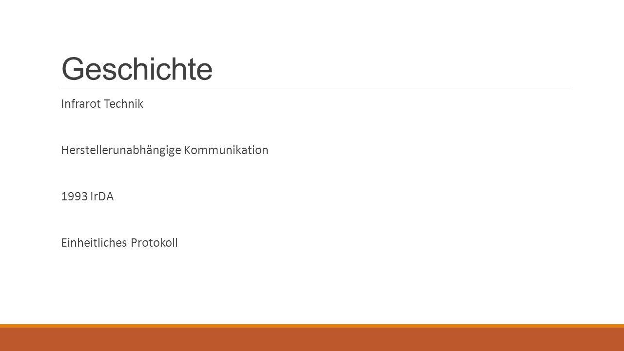 Geschichte Infrarot Technik Herstellerunabhängige Kommunikation
