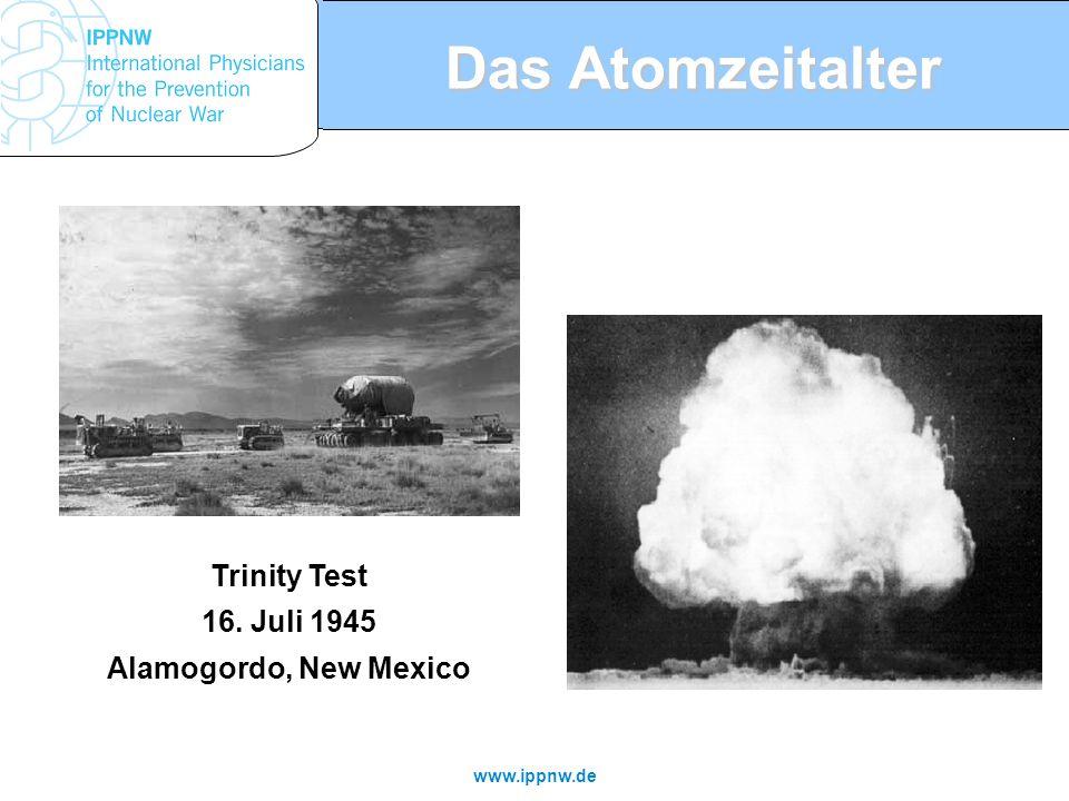 Das Atomzeitalter Trinity Test 16. Juli 1945 Alamogordo, New Mexico