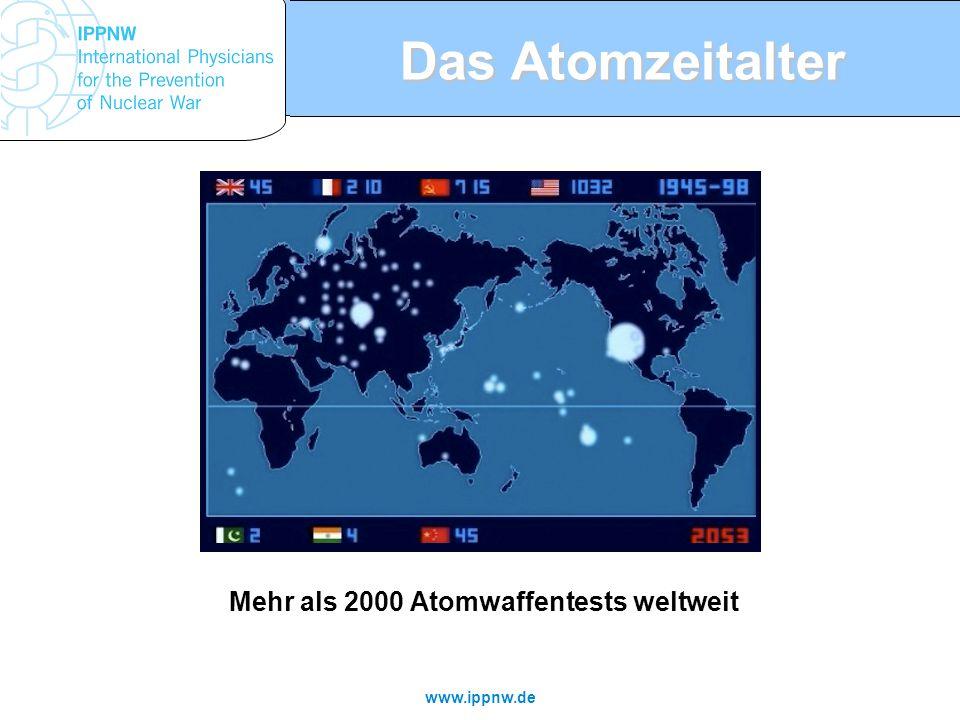 Mehr als 2000 Atomwaffentests weltweit