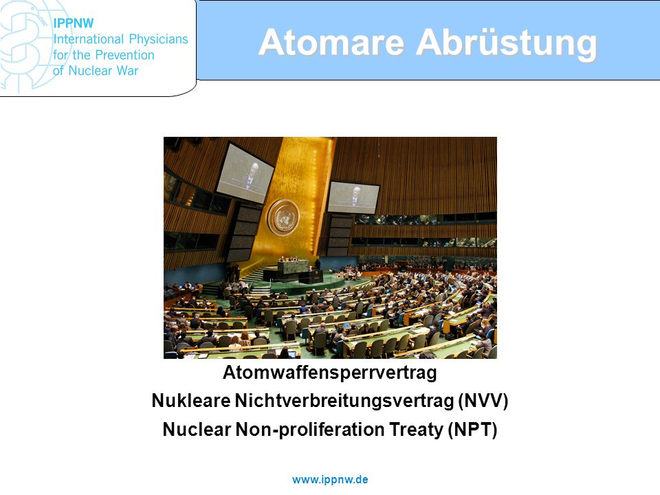Atomare Abrüstung Atomwaffensperrvertrag