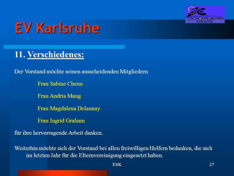 EV Karlsruhe 11. Verschiedenes: