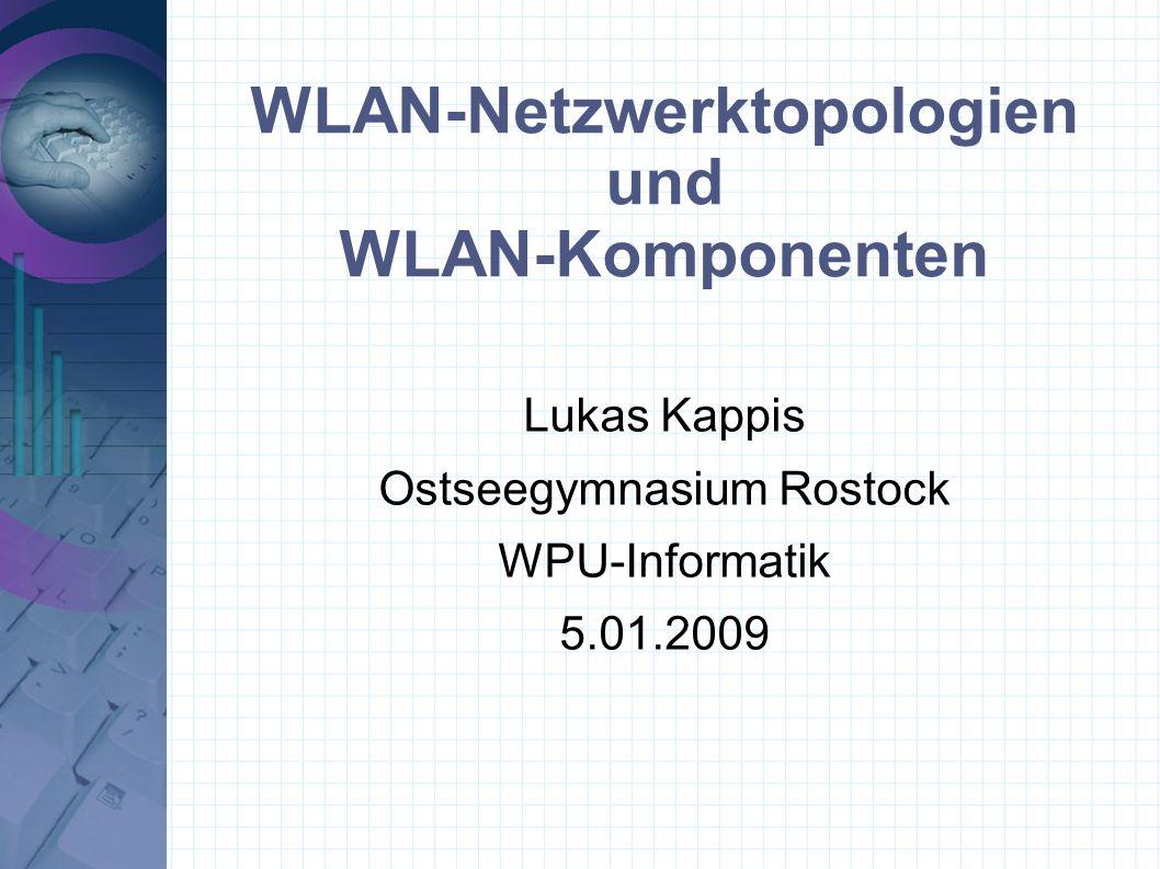 WLAN-Netzwerktopologien und WLAN-Komponenten