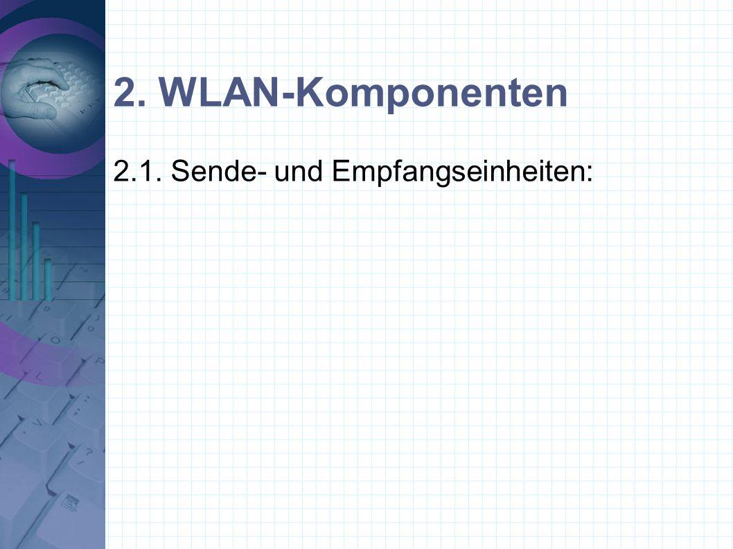 2. WLAN-Komponenten 2.1. Sende- und Empfangseinheiten: