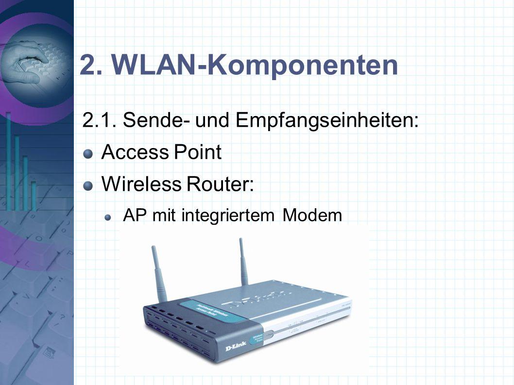 2. WLAN-Komponenten 2.1. Sende- und Empfangseinheiten: Access Point