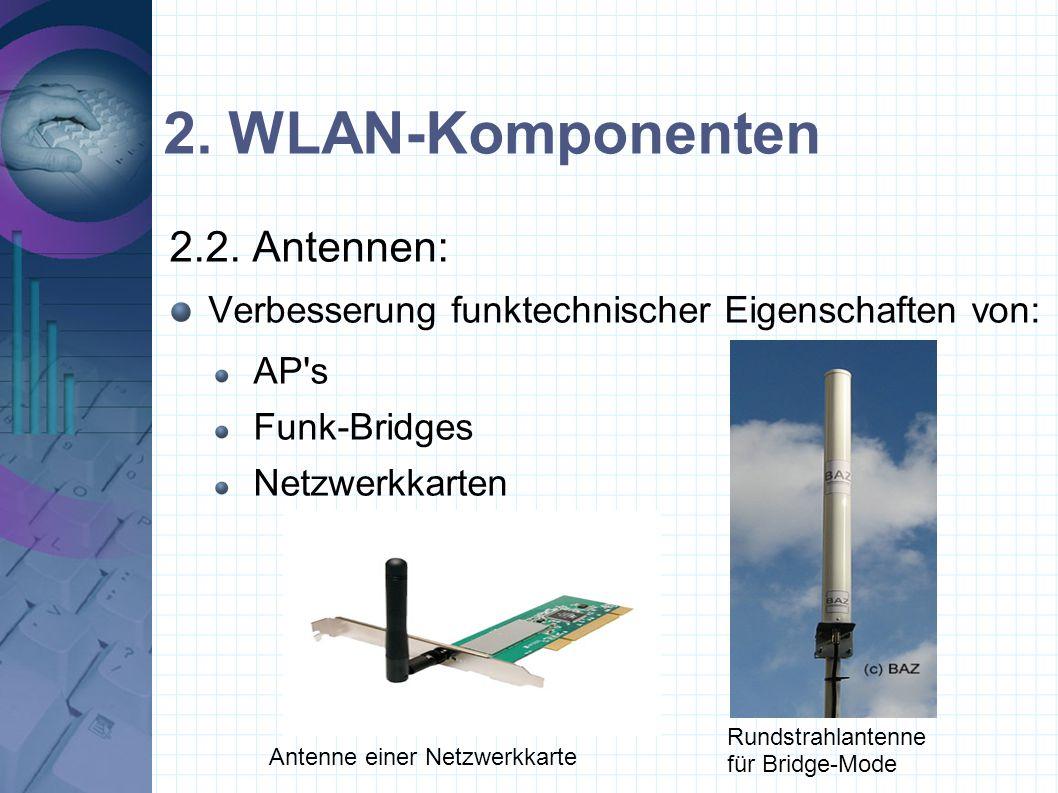 2. WLAN-Komponenten 2.2. Antennen: