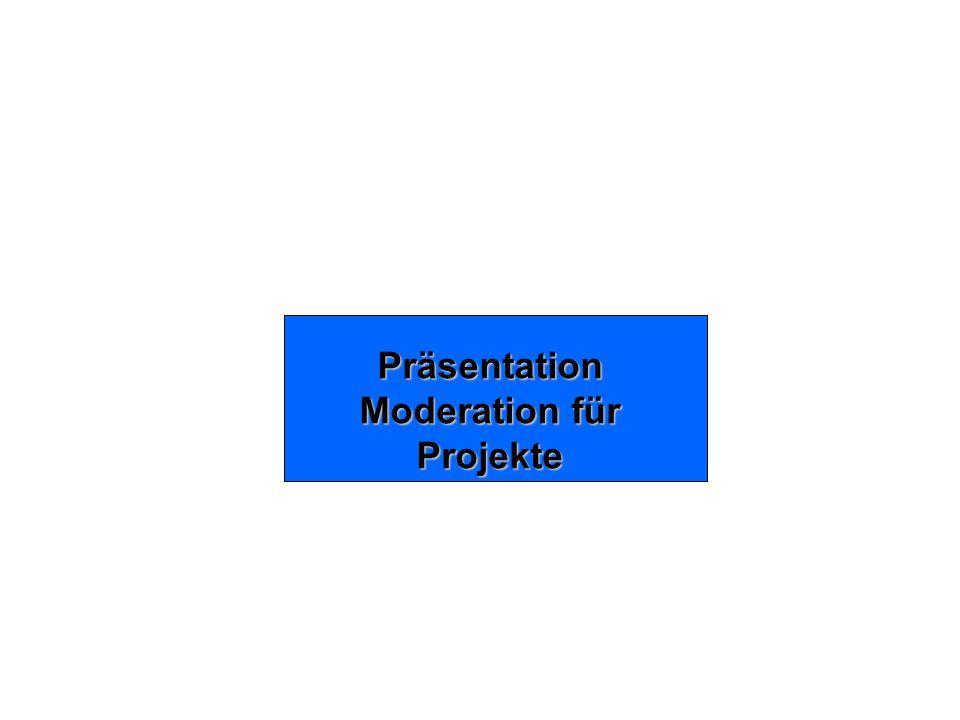 Moderation für Projekte