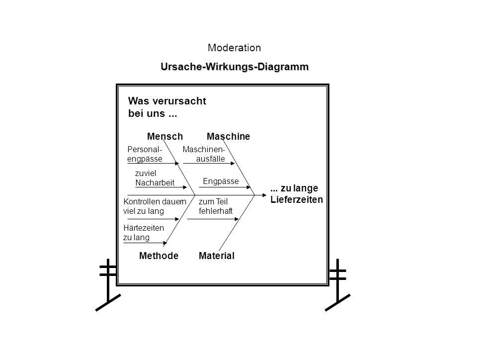 Moderation Ursache-Wirkungs-Diagramm