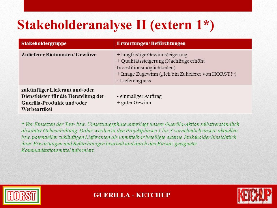 Stakeholderanalyse II (extern 1*)