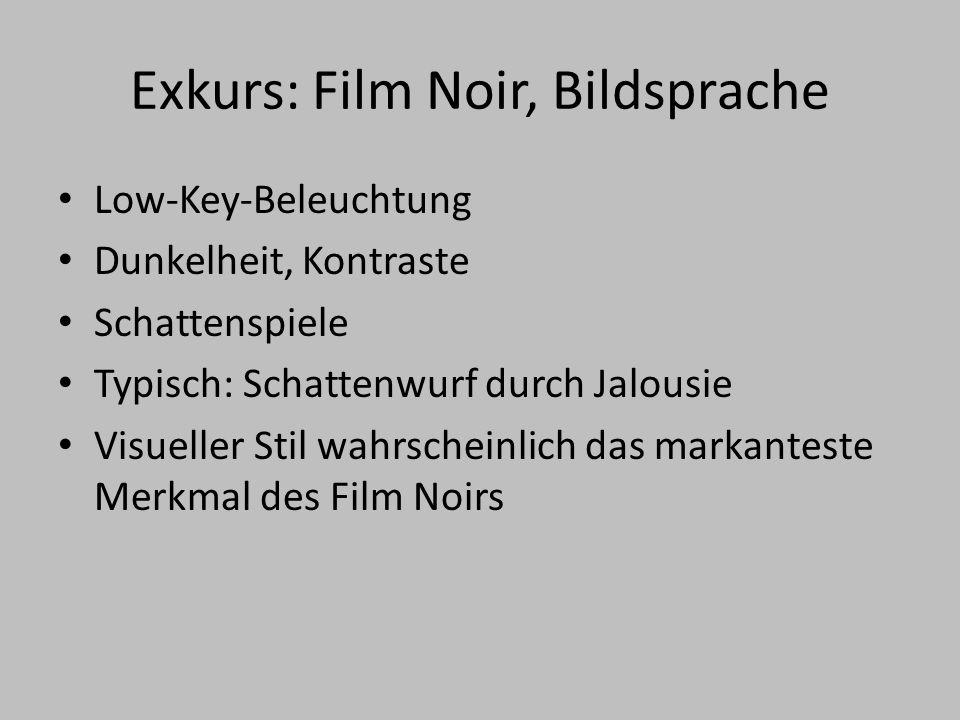 Exkurs: Film Noir, Bildsprache