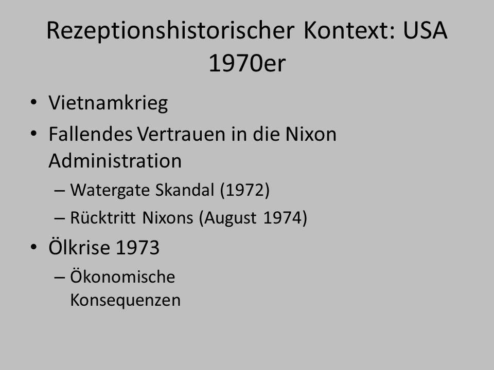 Rezeptionshistorischer Kontext: USA 1970er