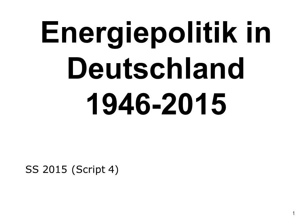 Energiepolitik in Deutschland 1946-2015