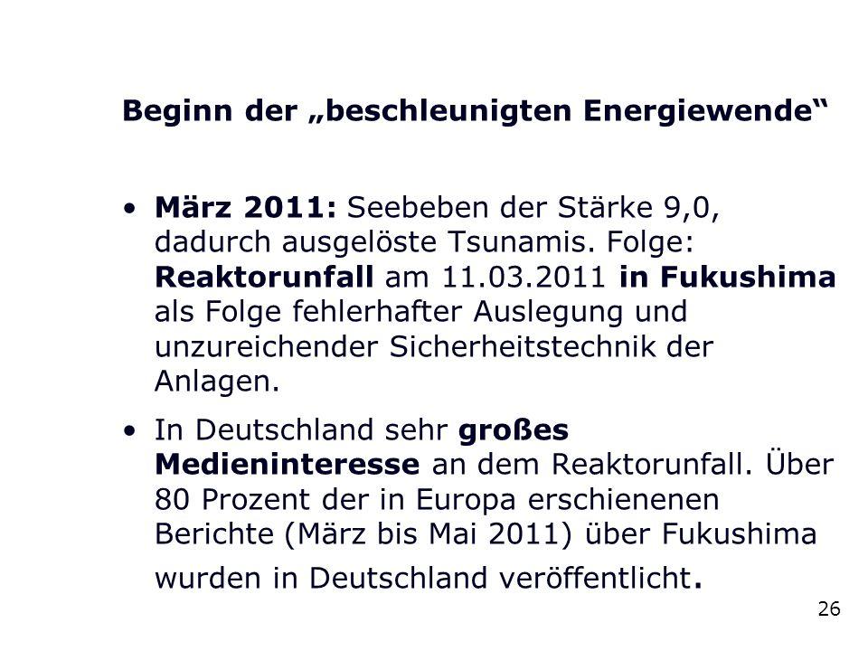 """Beginn der """"beschleunigten Energiewende"""