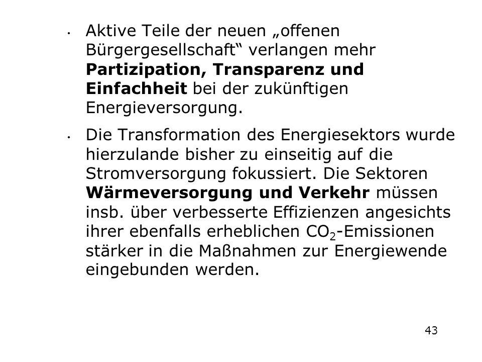 """Aktive Teile der neuen """"offenen Bürgergesellschaft verlangen mehr Partizipation, Transparenz und Einfachheit bei der zukünftigen Energieversorgung."""
