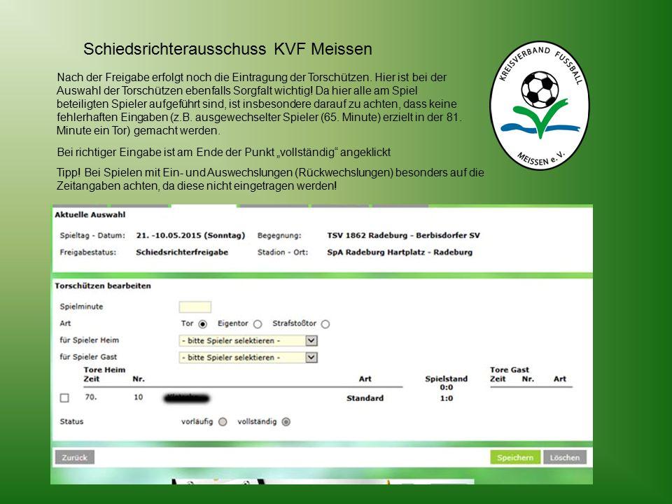 Schiedsrichterausschuss KVF Meissen