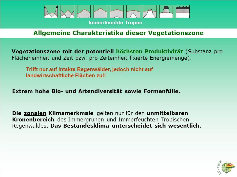Allgemeine Charakteristika dieser Vegetationszone
