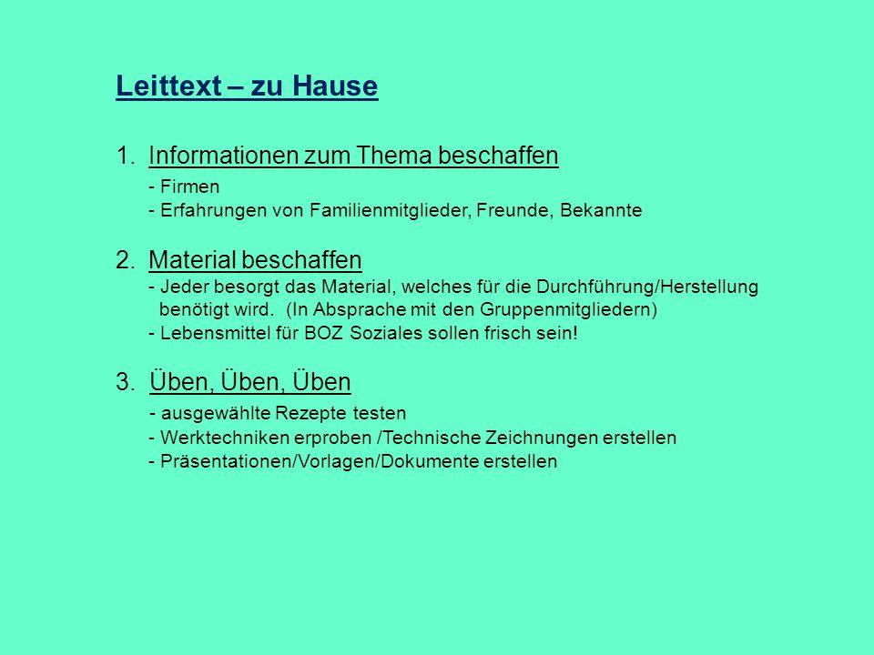 Leittext – zu Hause Informationen zum Thema beschaffen - Firmen