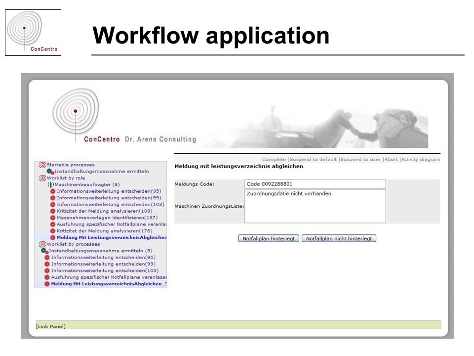 Workflow application