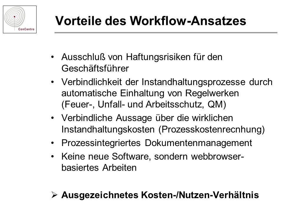 Vorteile des Workflow-Ansatzes
