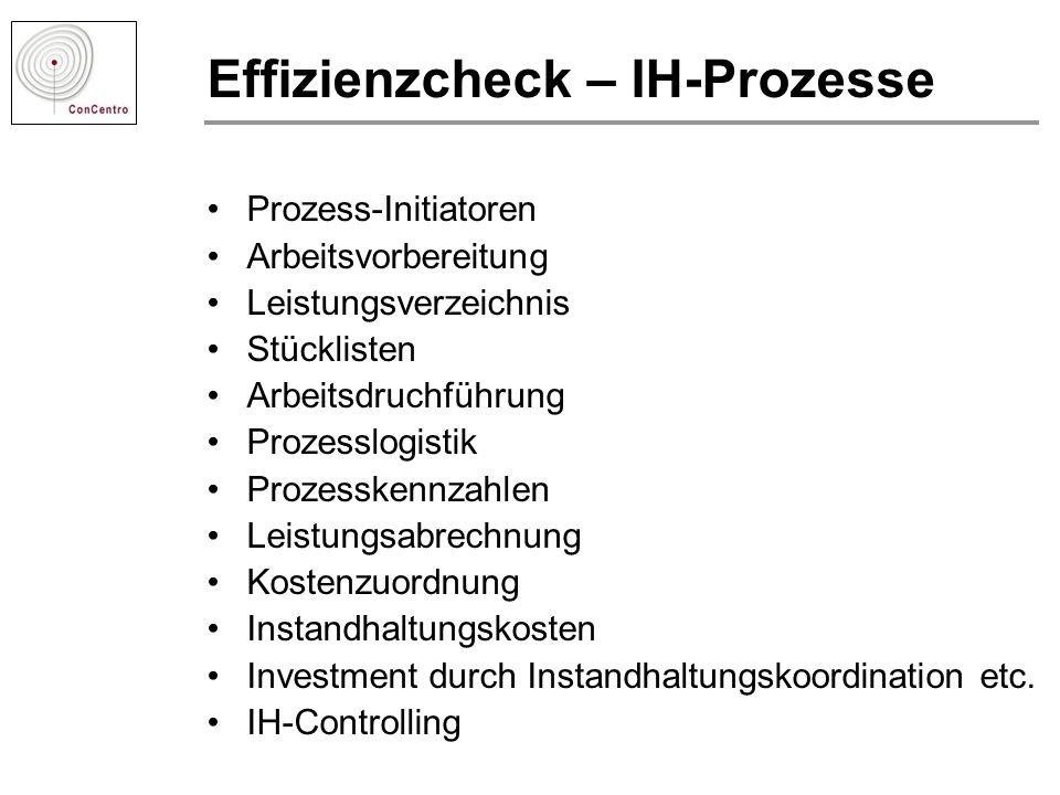 Effizienzcheck – IH-Prozesse