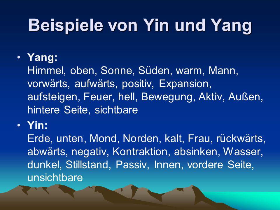 Beispiele von Yin und Yang