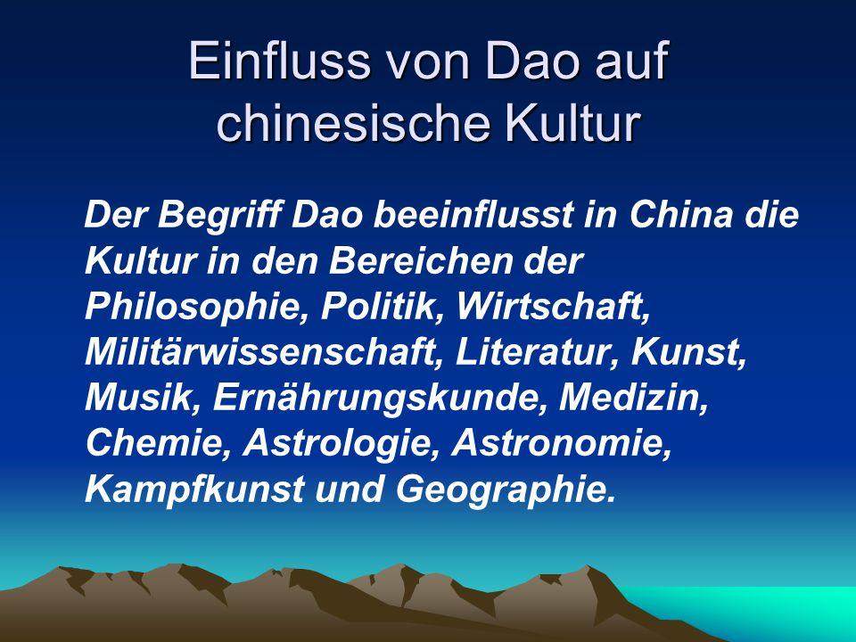 Einfluss von Dao auf chinesische Kultur
