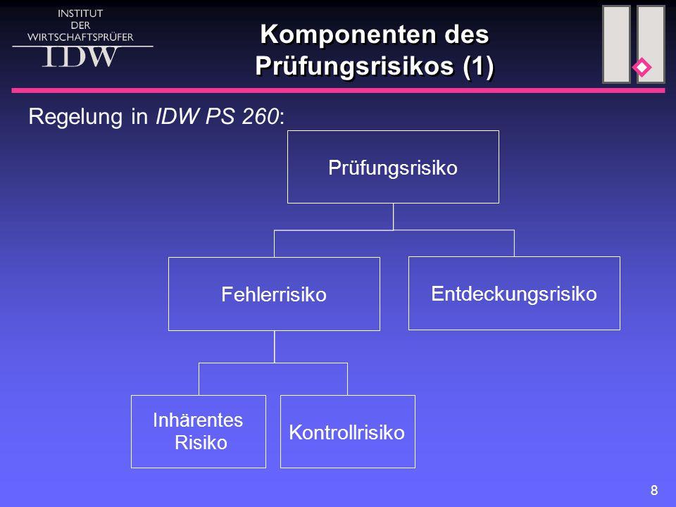 Komponenten des Prüfungsrisikos (1)