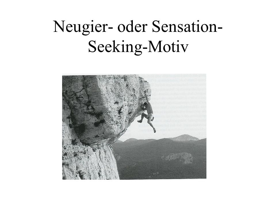 Neugier- oder Sensation-Seeking-Motiv