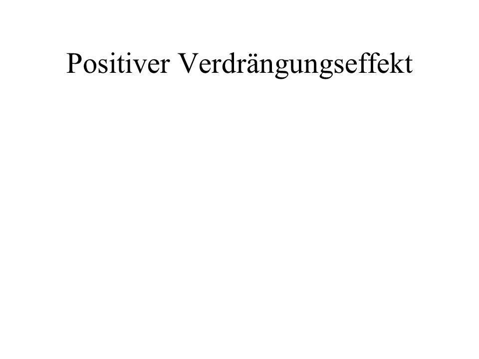 Positiver Verdrängungseffekt