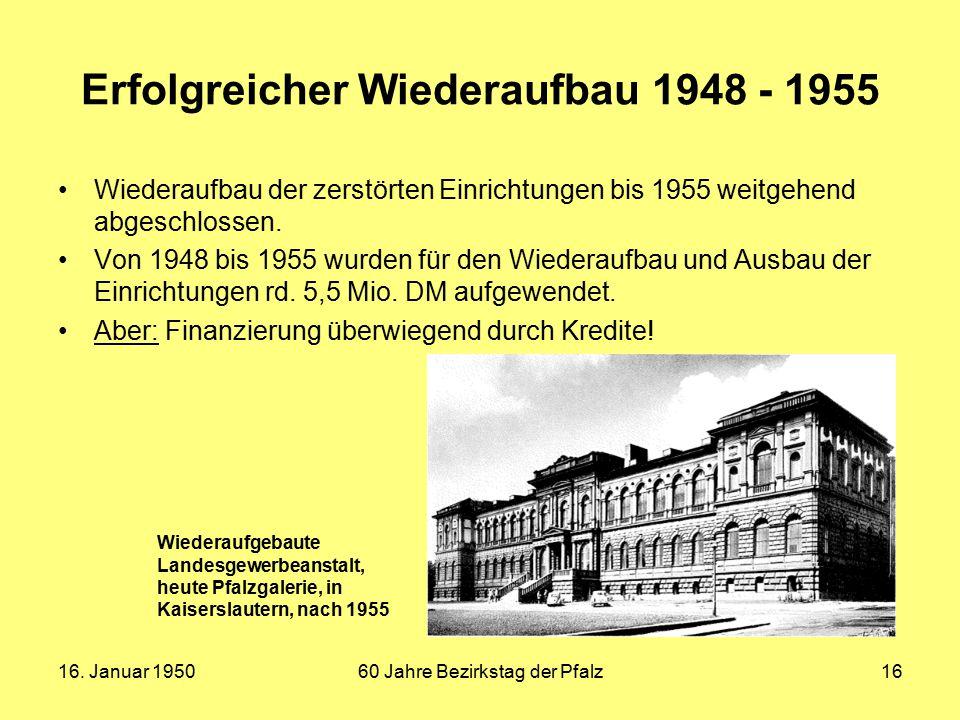 Erfolgreicher Wiederaufbau 1948 - 1955