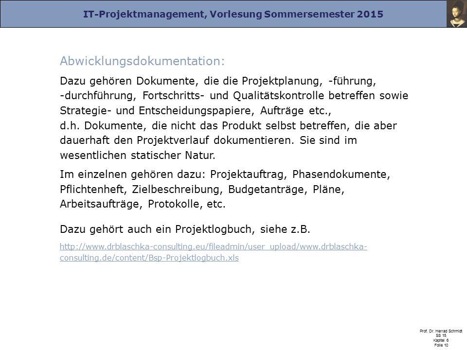 Abwicklungsdokumentation: