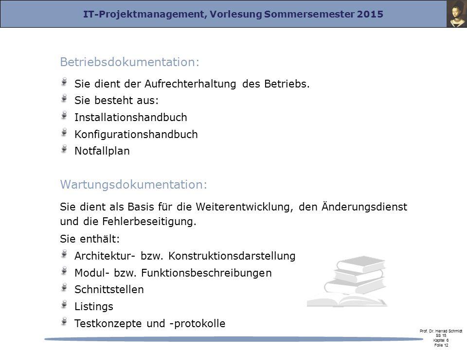 Betriebsdokumentation: