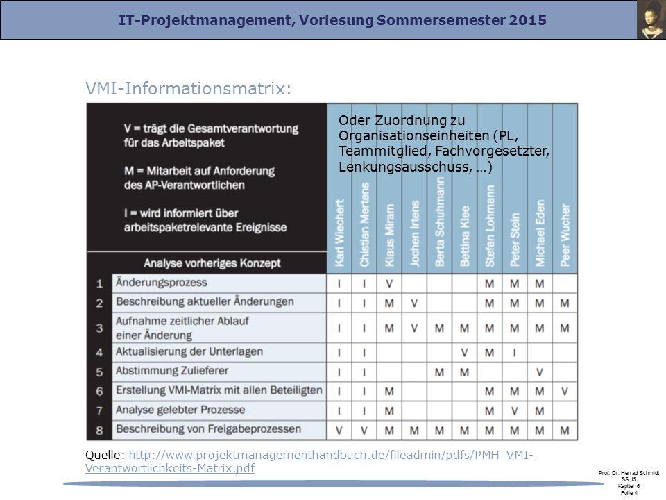 VMI-Informationsmatrix: