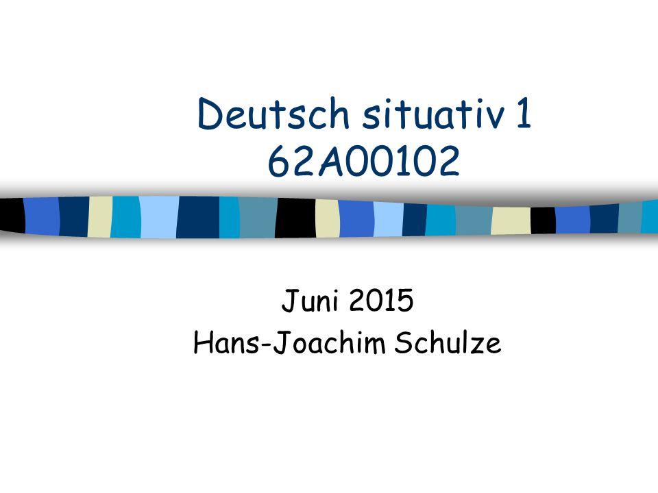 Juni 2015 Hans-Joachim Schulze