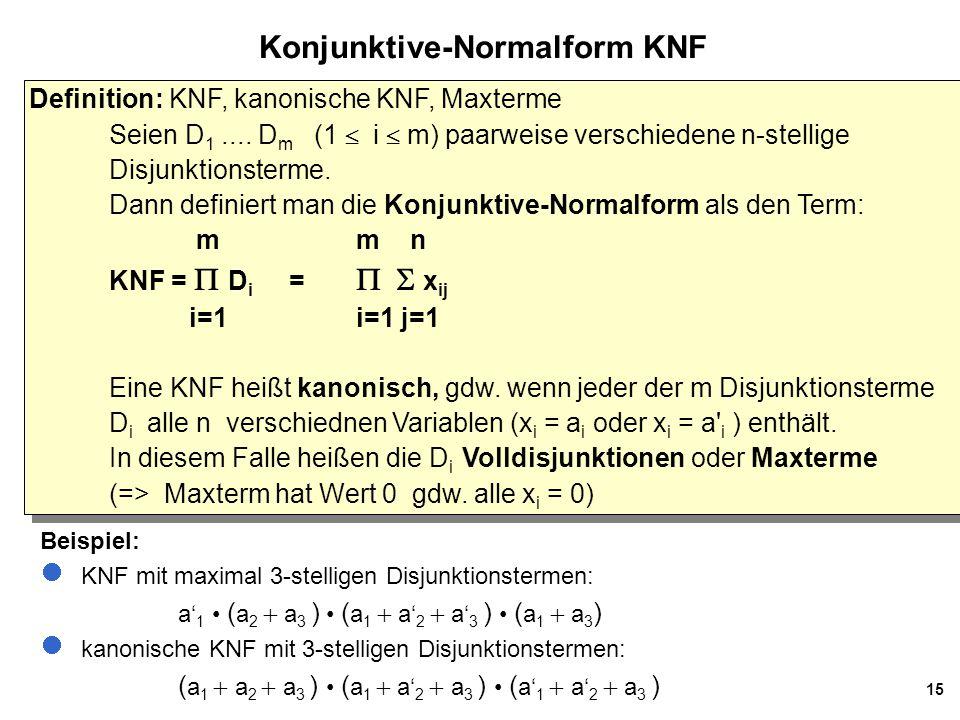 Konjunktive-Normalform KNF